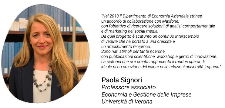 Testimonianza di Paola Signori