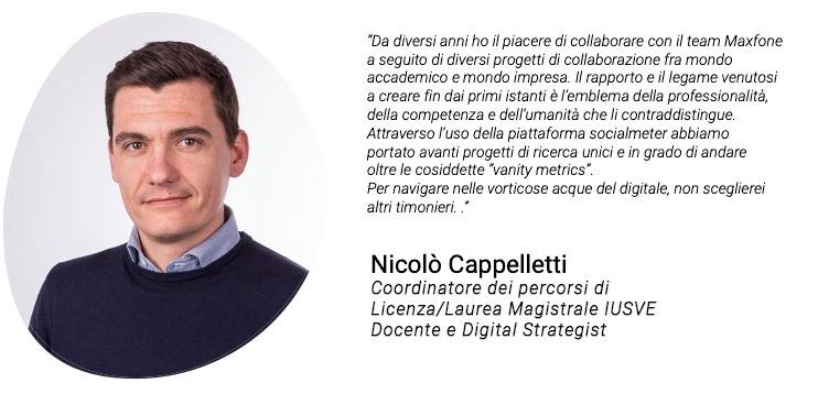 Testimonianza di Nicolò Cappelletti