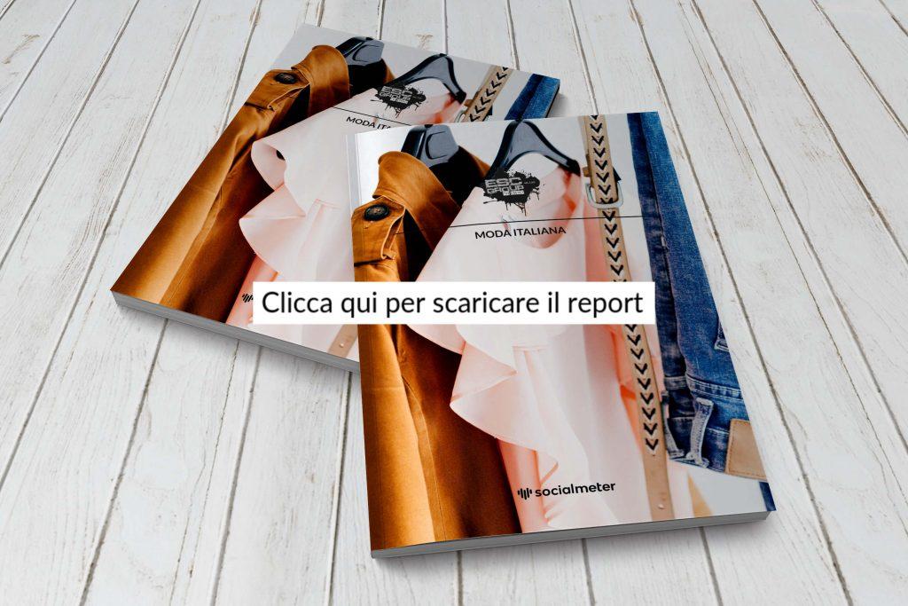 Copertina Report Moda Italiana con blocco per contatti